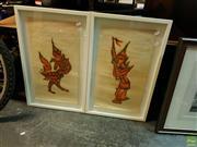 Sale 8627 - Lot 2087 - Pair of Thai Cloth Art of Deities
