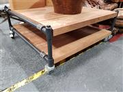 Sale 8680 - Lot 1017 - Industrial Style Coffee Table on Castors