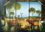 Sale 8752A - Lot 5028 - Kevin Charles (Pro) Hart (1928 - 2006) - The Blade Shearers 45 x 60cm