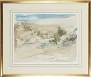 Sale 8791 - Lot 504 - David Voigt (1944 - ) - Meanings under Shifting Sands 45 x 58cm