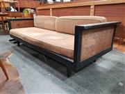 Sale 8801 - Lot 1067 - Vintage Artes Studio Rattan and Timber Lounge