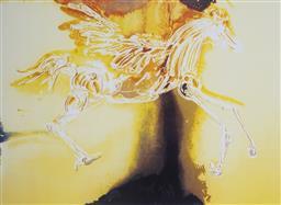 Sale 9081A - Lot 5056 - Salvador Dali (1904 - 1989) - Pegasus 37 x 55 cm (frame: 59 x 76 x 3 cm)