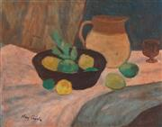 Sale 9067 - Lot 533 - Ray Crooke (1922 - 2015) - Still Life with fruit 29 x 37 cm (frame: 46 x 54 x 3 cm)
