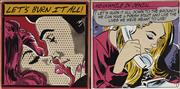 Sale 9081A - Lot 5094 - Denial (2 works) - Lets Burn it All I & II 28 x 28 cm (each)