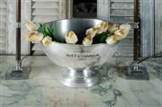 Sale 9087H - Lot 70 - Vintage French polished pewter Moet and Chandon champagne bowl 21 x 37 cm