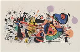 Sale 9195 - Lot 510 - JOAN MIRO (1893 - 1983) - Untitled 44.5 x 68 cm (frame: 64 x 94 x 2 cm)