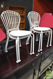 Sale 8310 - Lot 1640 - Set of 4 Metal Kids Chairs