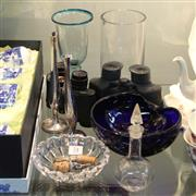 Sale 8351 - Lot 74 - Villeroy & Boch Cut Crystal Dish with Other Wares incl Binoculars