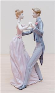 Sale 8430 - Lot 36 - A Lladró waltz group