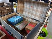 Sale 8452 - Lot 50 - Cash Boxes with Cigar Boxes & a Suitcase