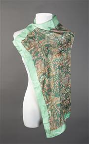 Sale 8493A - Lot 68 - Two Liberty vintage scarfs; one green colour scheme the other brown, 63cm x 63cm