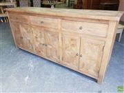 Sale 8601 - Lot 1146 - Parquetry Oak Sideboard with Three Drawers & Doors (W: 180cm)