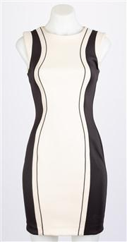 Sale 8640F - Lot 65 - A Nicholas bodycon cream and black dress, size 8.