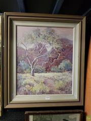 Sale 8619 - Lot 2026 - Margaret Mcrabrae - Kings Canyon, NT, oil on canvas board, 59 x 50.5cm, signed lower right
