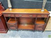 Sale 8637 - Lot 1010 - Edwardian Timber Sideboard