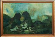 Sale 8819 - Lot 2093 - Richard Haughton James (1906 - ) - Sphinx 100 x 150cm