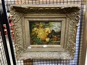 Sale 8888 - Lot 2044 - Artist Unkown Still Life - Fruit oil on panel, 42 x 46.5cm (frame), unsigned