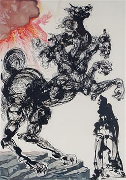 Sale 8985A - Lot 5010 - Salvador Dali (1904 - 1989) - Cerebus 33 x 25.5 cm (frame: 64 x 57 x 3 cm)