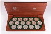 Sale 9035M - Lot 801 - The Perth Mint & Royal Australian Mint Sydney 2000 Olympic silver $5 coin colleciton set