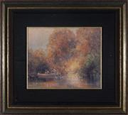Sale 9058 - Lot 2033 - Ramon Ward Thompson (1941 - ) - On the Nepean, NSW 24.5 x 30 cm (frame: 48 x 53 cm x 4 cm