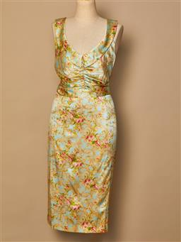 Sale 9093F - Lot 24 - A Colette Dinnigan silk floral summer dress, size M