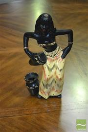 Sale 8326 - Lot 1022 - Barsony Figure, Maiden with Hand Drum - Marked F-22