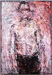Sale 8382 - Lot 522 - Robert Hollingworth (1947 - ) - Red Portrait 130.5 x 91cm