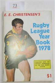 Sale 8404S - Lot 73 - E.E. Christensen's Rugby League Year Book 1978 - the last Annual published by Christensen who began the annuals in 1947