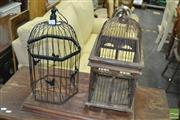 Sale 8431 - Lot 1062 - Small Birdcages x 2