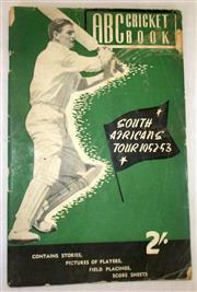 Sale 8460C - Lot 33 - ABC Cricket Book. South African Tour 1952–53. 65 pages, some soiling. Good.