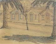 Sale 8504 - Lot 596 - Sydney Ure Smith (1887 - 1949) - Untitled, 1945 (Residences) 18.5 x 23cm