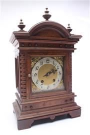 Sale 8689 - Lot 42 - Victorian Mahogany Mantle Clock by Carl Werner Germany