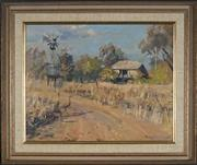 Sale 8964 - Lot 2025 - Bruce Fletcher (1937 - ) - Emu Crossing, 1978 39.5 x 49.5 cm (frame: 56 x 65 x 6 cm)