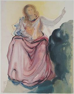 Sale 8985A - Lot 5011 - Salvador Dali (1904 - 1989) - Beatrice Resolves 33 x 25.5 cm (frame: 64 x 57 x 3 cm)