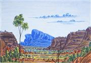 Sale 9042A - Lot 5055 - Richard Forrester (1938 - ) - Haasts Bluff 29.5 x 43 cm (frame: 55 x 65 x 2 cm)