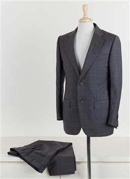 Sale 9120K - Lot 100 - An Ermenegildo Zegna premium custom made/tailored wool silk suits set; jacket size 7-48R, pants size 7-50R