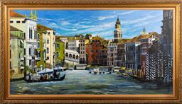 Sale 9256H - Lot 48 - Begira Gardener - Venetian Canal Scene signed lower left