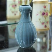 Sale 8362 - Lot 42 - Blue Glaze Garlic Head Vase