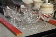 Sale 8369 - Lot 69 - Stuart Set Of Eight Crystal Cut Sherry Glasses & Tumbler (9)