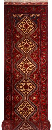 Sale 8390C - Lot 49 - Afghan Beljic 400cm x 80cm
