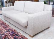 Sale 8489A - Lot 26 - A stone weave three seater sofa bed, L 200 x D 100 x H of back 90cm, as new