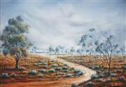 Sale 8519 - Lot 503 - Eric Minchin (1928 - 1994) - Outback Station, 1981 59.5 x 90cm