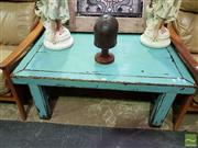 Sale 8532 - Lot 1016 - Teal Laquered Coffee Table