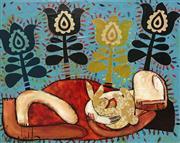 Sale 8609A - Lot 5006 - Janine Daddo (1959 - ) - Rabbit Dreaming II 60 x 75cm