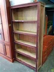 Sale 8601 - Lot 1191 - Timber Bookcase with Dark Stain