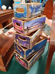 Sale 8744 - Lot 1072 - Collection of 5 Sydney Harbour Bridge Boxes