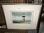 Sale 8776 - Lot 2025 - Artist Unknown - Harbour Light 33.5 x 40.5