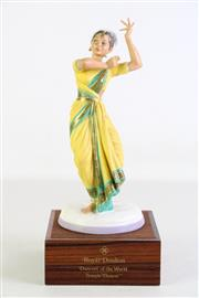 Sale 8935 - Lot 7 - Royal Doulton Figure of Temple Dancer from the series Dancers of the World HN2830, Limited ed no. 48 of 750, with stand and box