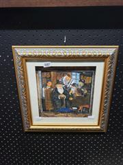 Sale 8978 - Lot 2087 - Elders Meeting Watercolour & Framed Script