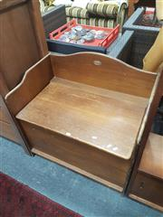 Sale 8676 - Lot 1347 - Blanket Box with back Board